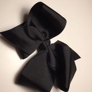 Black hair bow 5 inch